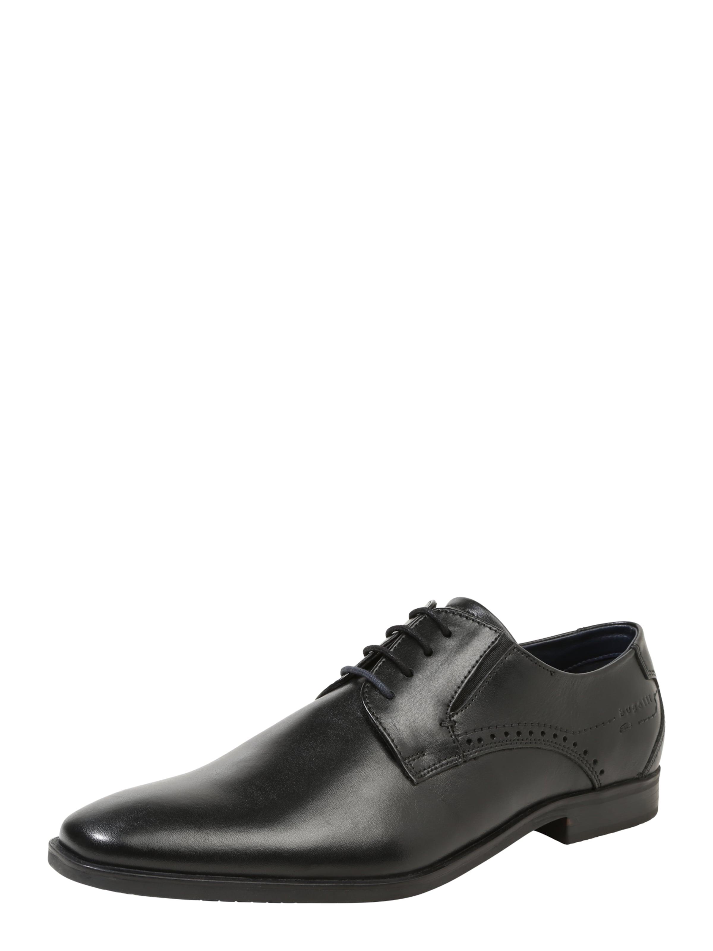 bugatti Schnürschuh aus Leder Verschleißfeste billige Schuhe