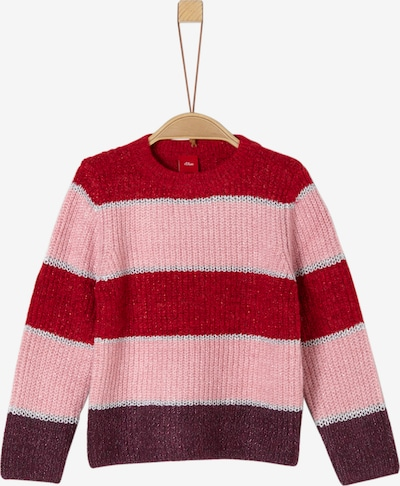 s.Oliver Pullover in grau / beere / rosa / rot, Produktansicht