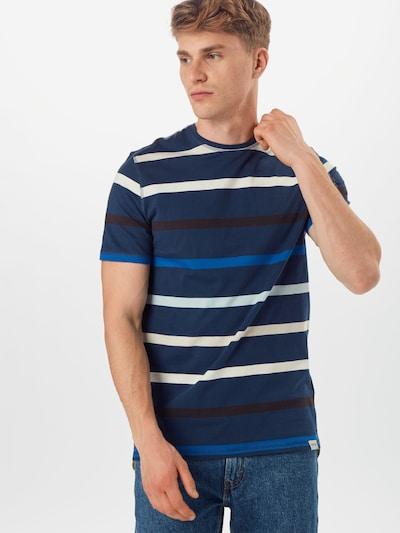 Tricou 'EDUARD 6620' Only & Sons pe albastru închis / alb: Privire frontală