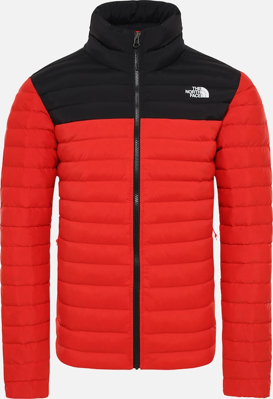 THE NORTH FACE Funktionsjacke 'Stretch Down' in rot / schwarz: Frontalansicht