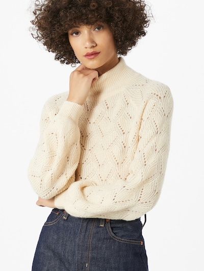 OBJECT Pullover 'Claire' in creme, Modelansicht