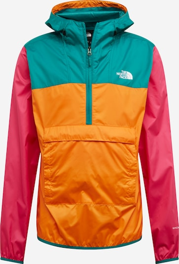 THE NORTH FACE Veste mi-saison en vert / orange / rose, Vue avec produit