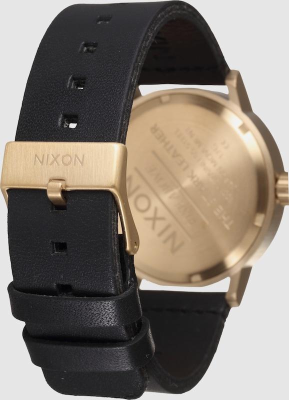 Nixon Armbanduhr 'Stark Leather'