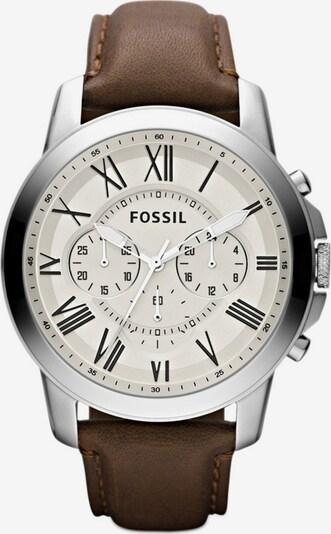 "FOSSIL Chronograph, ""GRANT, FS4735"" in braun / silber, Produktansicht"
