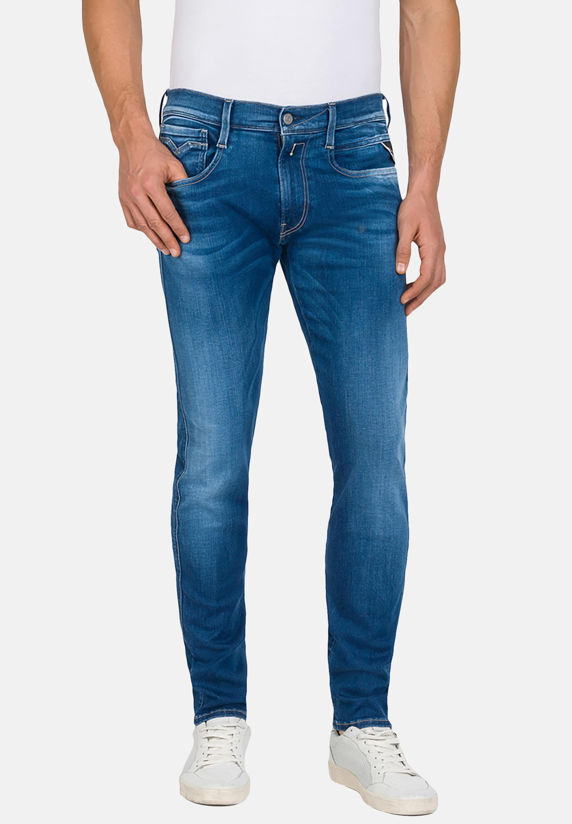Jeans Replay 'anbass' Replay In Blau Replay Jeans Blau 'anbass' In EHD9I2