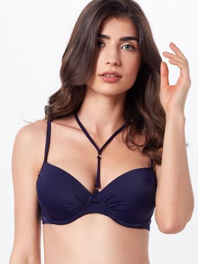 Hunkemöller Hauts de bikini 'Braided rings Demi PW' en bleu / bleu foncé: Vue de face