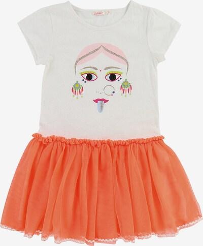 Billieblush Kinder Jerseykleid mit Tüllrock in dunkelorange / weiß, Produktansicht