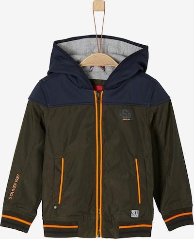 s.Oliver Junior Jacke in dunkelblau / braun / neonorange, Produktansicht