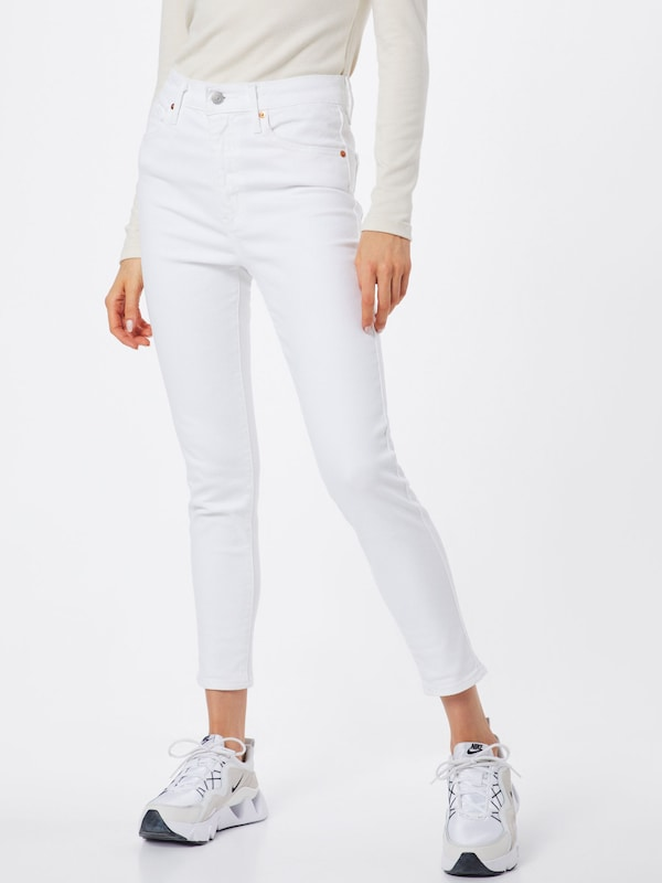 LEVI'S Jeans 'MILE HIGH ANKLE SKINNY' in weiß, Modelansicht