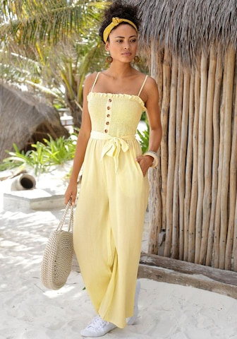 LASCANA Jumpsuit in Yellow