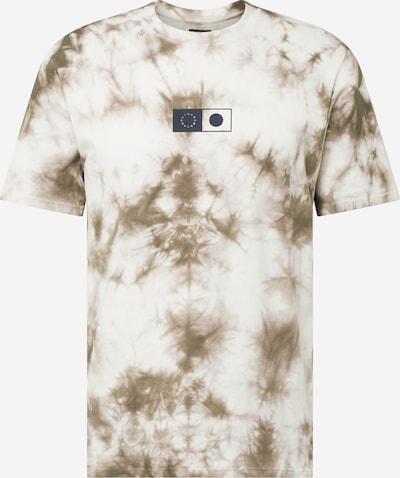 EDWIN Shirt 'Synergy' in de kleur Donkerblauw / Grijs / Olijfgroen / Wit, Productweergave