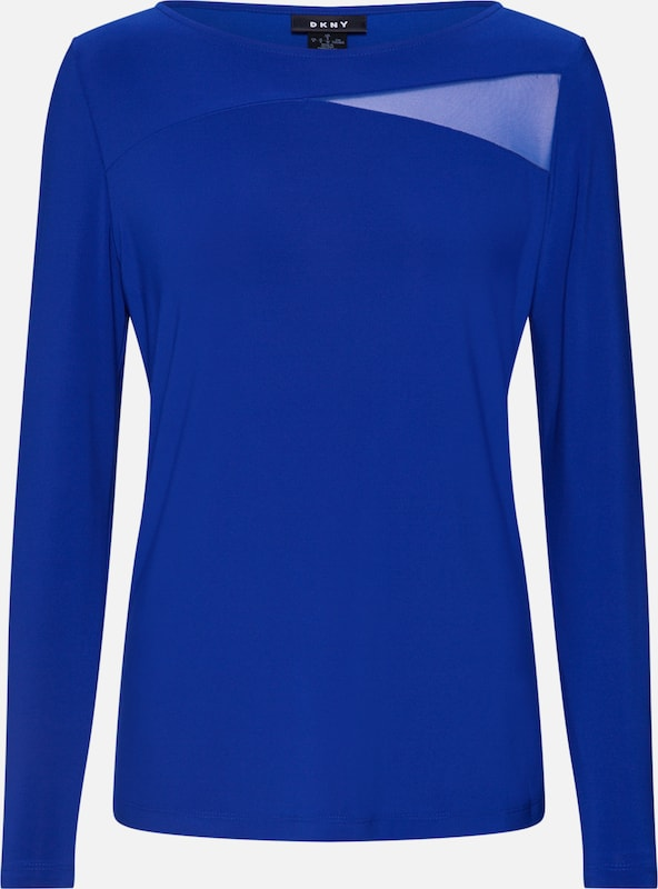 T Neck Bleu En s Dkny 'l shirt Boat WMesh Details' Top 8NnwvOm0