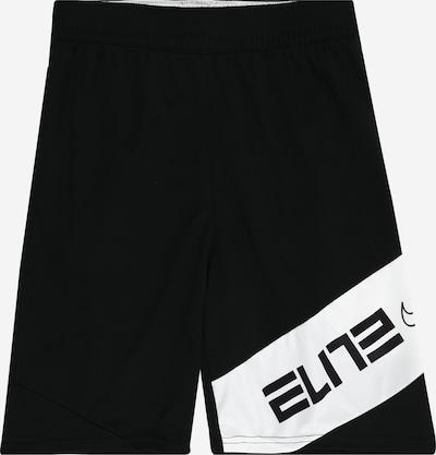 NIKE Sport-Shorts in schwarz / weiß, Produktansicht