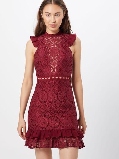 Love Triangle Avondjurk 'Royal Gala Dress' in de kleur Bordeaux: Vooraanzicht