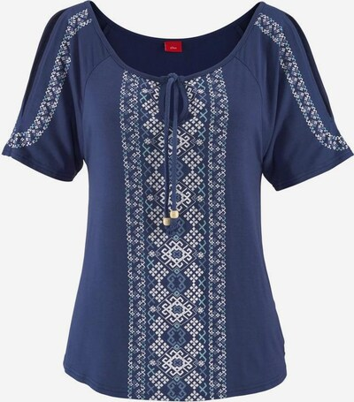 s.Oliver Strandshirt in blau / hellblau / weiß, Produktansicht