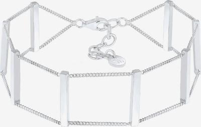 ELLI PREMIUM Armband 'Geo' in silber: Frontalansicht