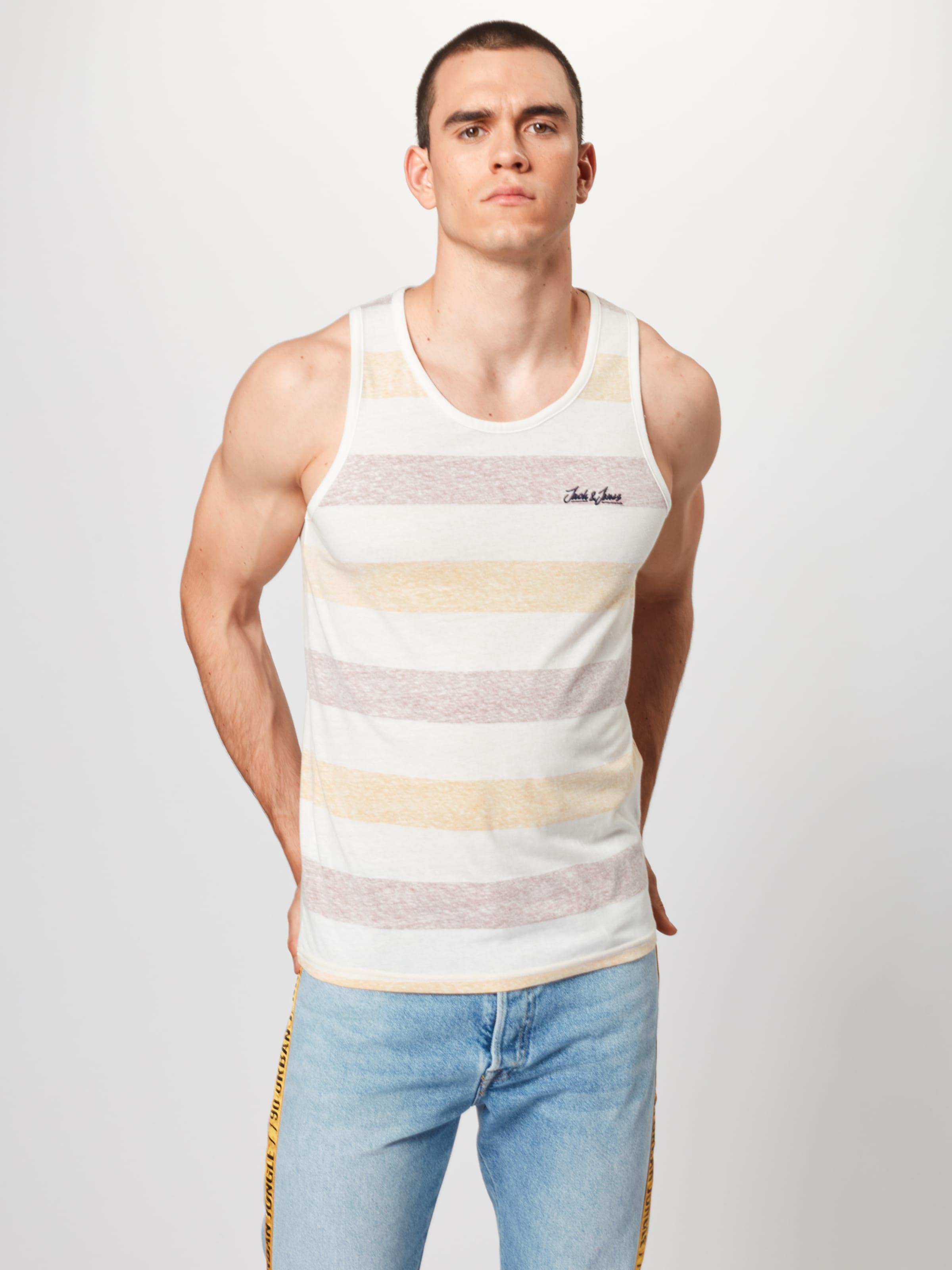 Jones Cassé 'jorsider Blanc T Jackamp; Tank OrangeRouge En shirt Top' dxeoCB