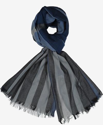 Silvio Tossi Schal in royalblau / dunkelblau / grau, Produktansicht