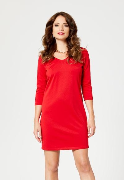 faina Etuikleid in rot / schwarz, Modelansicht