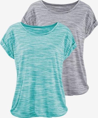 BEACH TIME T-Shirts in türkis / graumeliert, Produktansicht