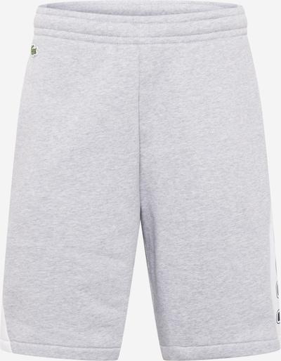 Pantaloni LACOSTE pe albastru închis / gri amestecat / alb, Vizualizare produs