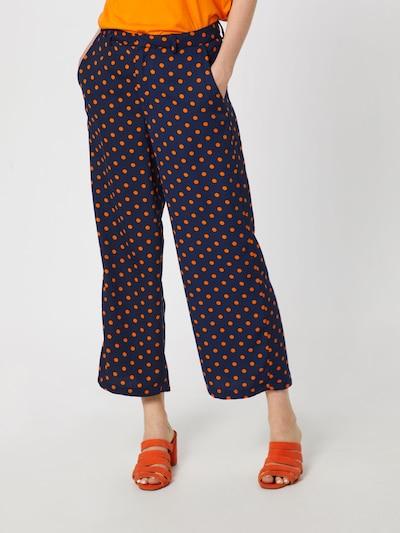 VILA Hose in navy / orange, Modelansicht