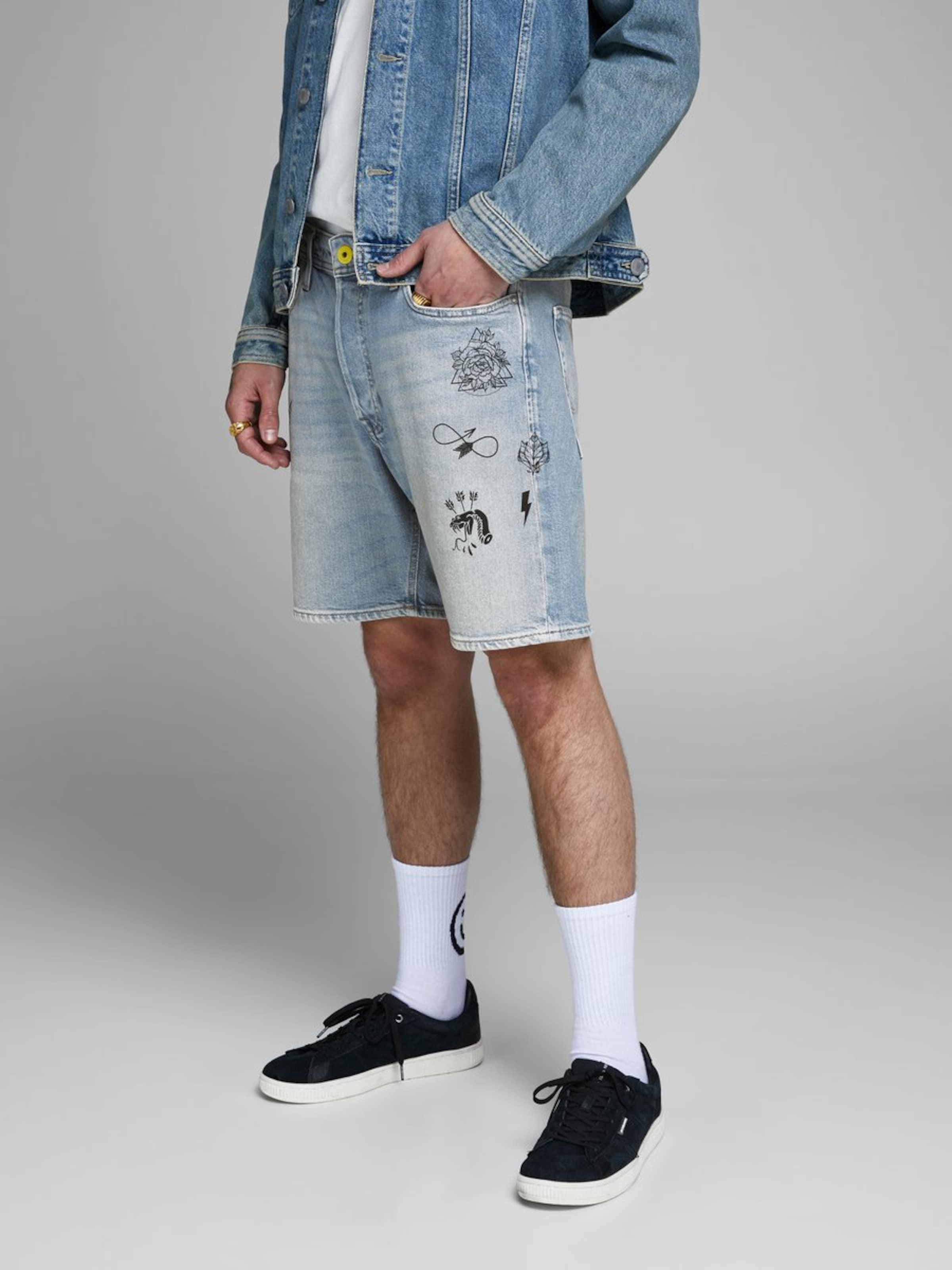 Denim Jones Loose Blue Jackamp; Jeansshorts In Fit D2WI9YEH