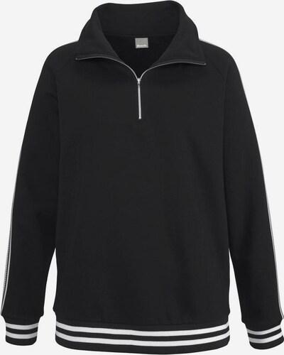 BENCH Sweatshirt in schwarz / weiß, Produktansicht