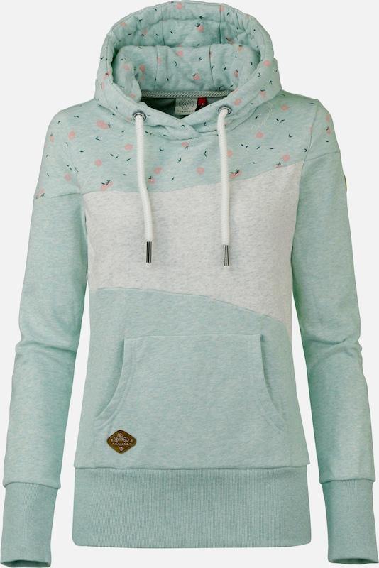 Ragwear Hoodie 'Tarsa' in pastellgrün   weiß  Neue Neue Neue Kleidung in dieser Saison 47c52f