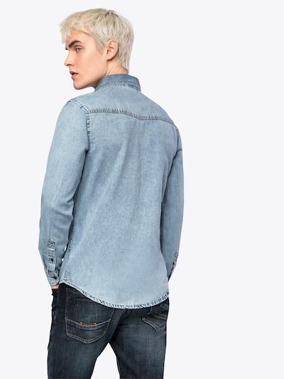 Urban Classics Hemd 'Denim Pocket Shirt' in blue denim: Rückansicht