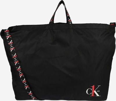 Calvin Klein Jeans Shopper 'CK1 XL SHOPPER TAPEALLOVER' in rot / schwarz / weiß, Produktansicht