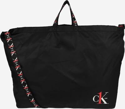 Calvin Klein Jeans Shopper 'CK1 XL SHOPPER TAPEALLOVER' in de kleur Rood / Zwart / Wit, Productweergave