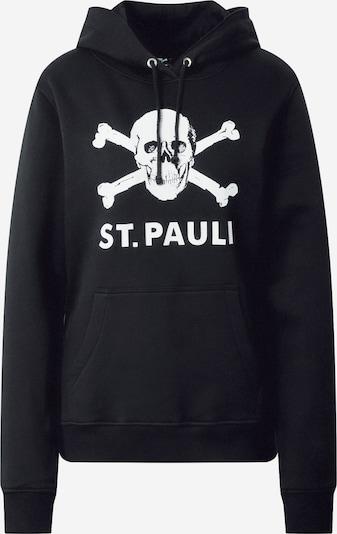FC St. Pauli Sweatshirt 'Totenkopf I' in de kleur Zwart / Wit, Productweergave