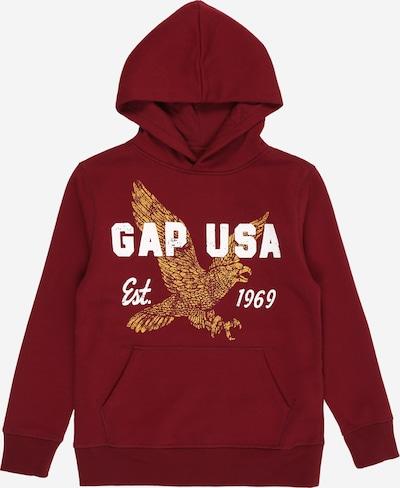 GAP Sweater majica u zlatna / bordo / bijela, Pregled proizvoda