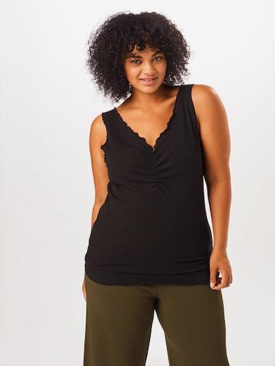 ONLY Carmakoma Top w kolorze czarnym, Podgląd na modelu(-ce)