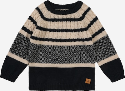 NAME IT Pullover 'Roger' in creme / nachtblau, Produktansicht