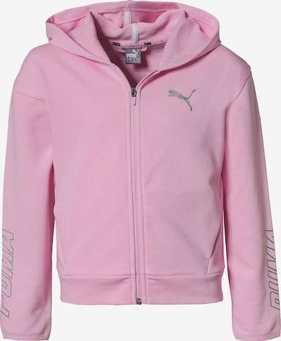 PUMA Sweatjacke 'Alpha' in rosa / silber, Produktansicht