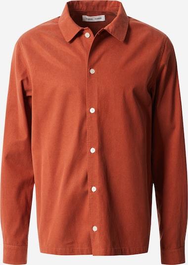 Samsoe Samsoe Overhemd in de kleur Roestrood, Productweergave
