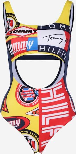 TOMMY HILFIGER Badeanzug ' Cheeky W ' in blau / navy / gelb / mischfarben / rot / weiß, Produktansicht