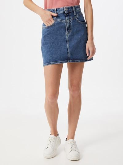 Calvin Klein Jeans Sukně - modrá džínovina: Pohled zepředu