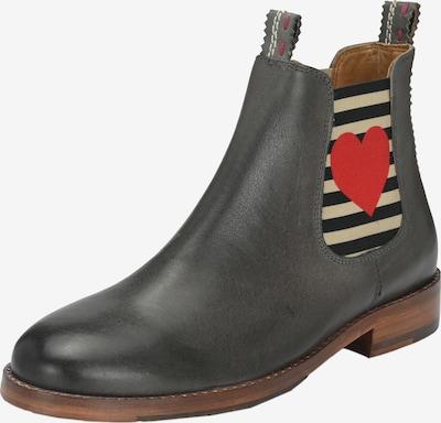 Crickit Chelsea Boots 'Julia' mit Herz in grau / dunkelgrau / rot, Produktansicht
