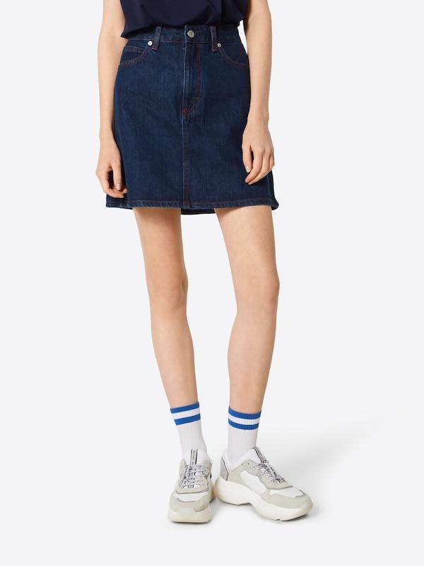 En Jeans Calvin Denim Jupe Bleu Klein XPk8nOwN0