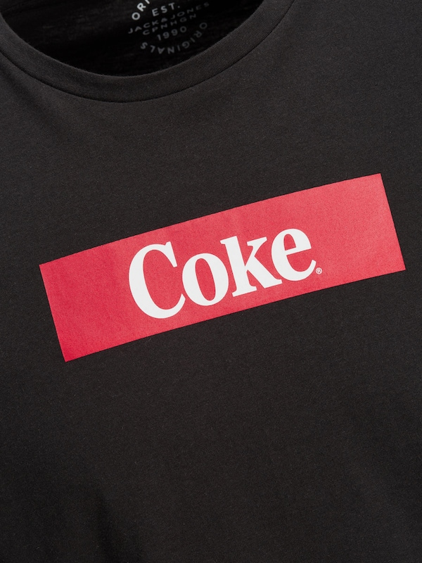 JACK & JONES Coca Cola Print T-Shirt