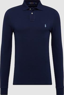 POLO RALPH LAUREN Shirt 'LSKCSLIMM2-LONG SLEEVE-KNIT' in Navy
