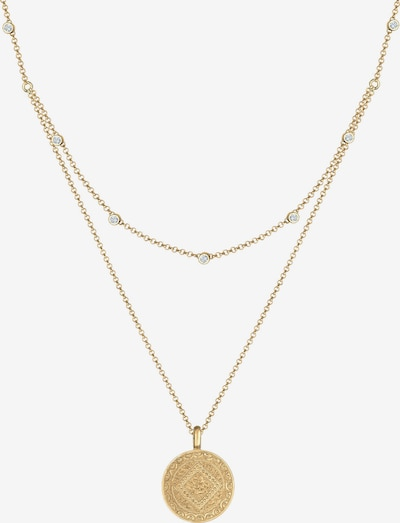 ELLI Halskette 'Layer, Ornament, Vintage' in gold, Produktansicht