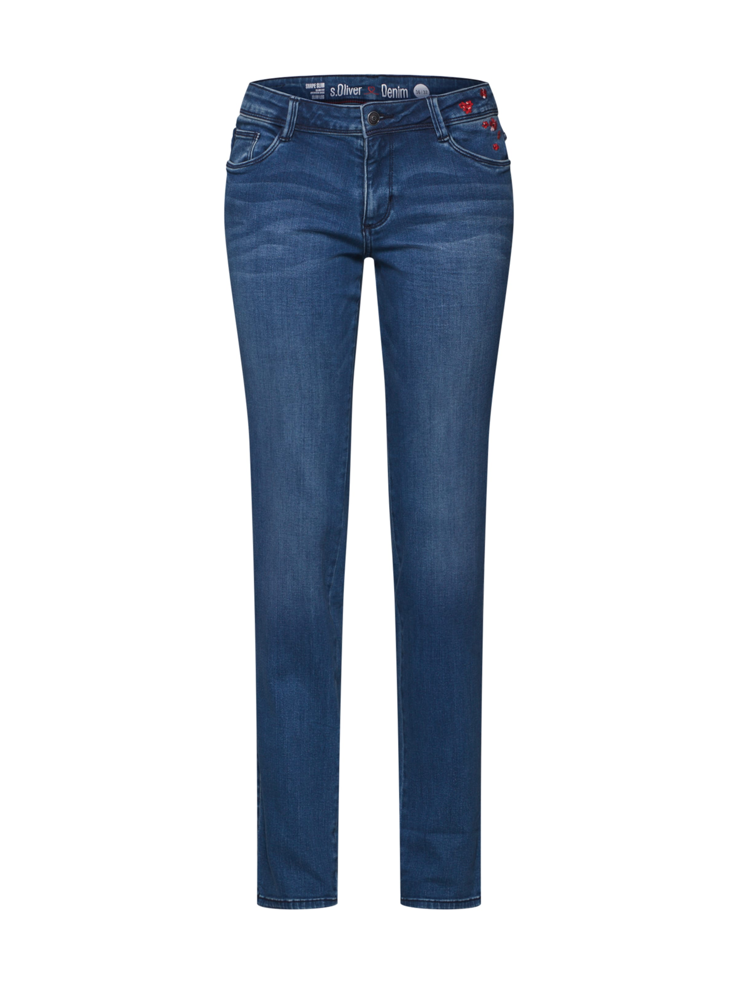 Blue S Label Jeans In Denim Red oliver tsxrChQd