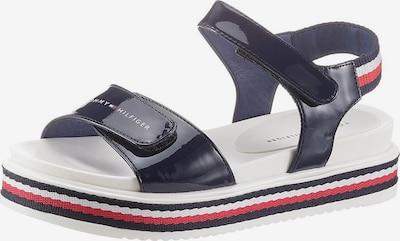 TOMMY HILFIGER Sandale in dunkelblau / rot / weiß, Produktansicht