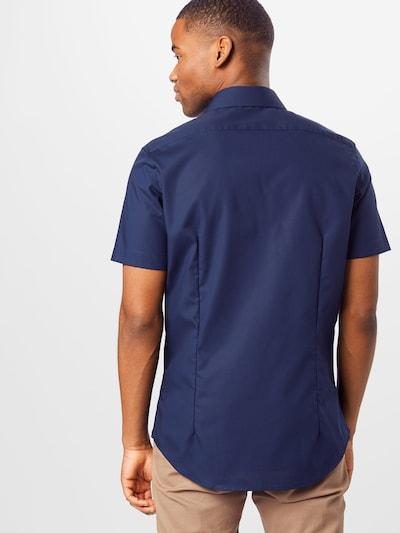 SEIDENSTICKER Hemd in dunkelblau: Rückansicht