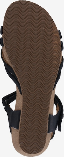 RIEKER Sandalen met riem in de kleur Nachtblauw: Onderaanzicht