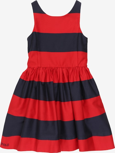 POLO RALPH LAUREN Kleid in navy / rot, Produktansicht